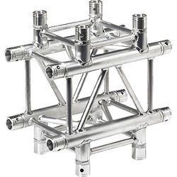 Global Truss 1.64' 4-Way Cross-Junction for F34 Square Truss