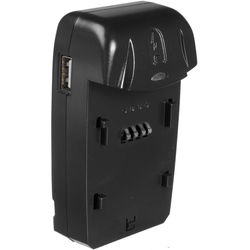 Watson Compact AC/DC Charger Kit with Battery Adapter Plate for NP-80, KLIC-3000, or DB-20