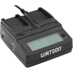 Watson Duo LCD Charger Kit with 2 Battery Adapter Plates for NB-12L