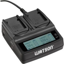 Watson Duo LCD Charger Kit with 2 Battery Adapter Plates for DMW-BCN10