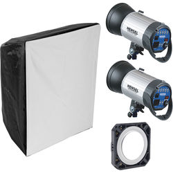 Hensel Integra 500 2-Light Kit with Chimera Softbox
