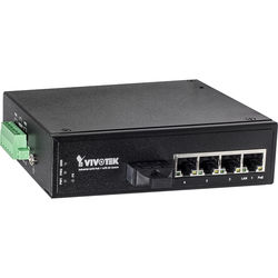Vivotek AW-IHT-0502 Industrial Switch (4 FE PoE Ports & 1 FE SC Single-Mode 18.6 mi Port)