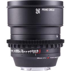 LOCKCIRCLE PrimeCircle XE Series Canon EF Mount 35mm f/1.4 Super-Speed Lens (Metric Markings)