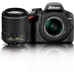 Nikon D3200 DSLR Camera with 18-55mm and 55-200mm VR Lenses Kit