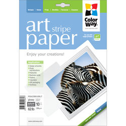 """ColorWay ART Glossy Stripe Textured Photo Paper (8.5 x 11"""", 10 Sheets)"""