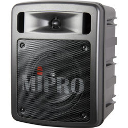 MIPRO MA-303BDUHT Wireless Portable Bluetooth PA System (5A Band, Dual-Channel, Black)