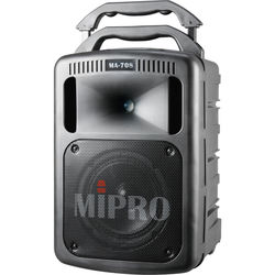 MIPRO MA-708 Portable Sound System with CD Player and Wireless Receiver (Black, 506 to 530MHz)