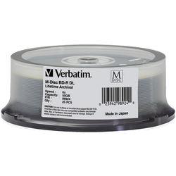 Verbatim M-Disc BD-R DL 50GB 6x Blu-ray Discs (Spindle, 25-Pack)