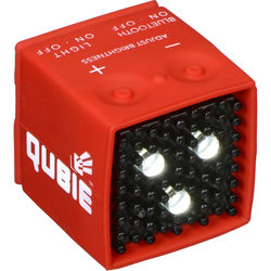 IC One Two The Qubie - Bluetooth Micro LED Strobe and Video Light (Red)