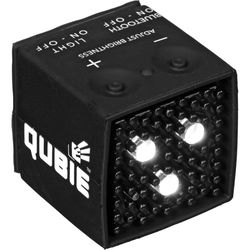 IC One Two The Qubie - Bluetooth Micro LED Strobe and Video Light (Black)
