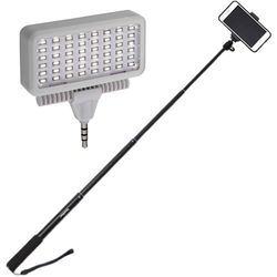 iStabilizer Selfie Stick with Mobile LED Light Kit