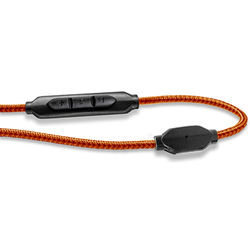 V-MODA 3-Button SpeakEasy Cable with Microphone and Remote (Orange)