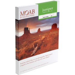 "Moab Juniper Baryta Rag 305 Paper (8.5 x 11"", 100 Sheets)"