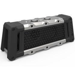 FUGOO Tough Portable Bluetooth Speaker (Black and Silver)