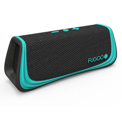 FUGOO Sport Portable Bluetooth Speaker (Black and Teal)