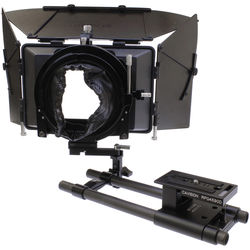 Cavision 4 x 5.65 Matte Box Package with 15mm Swing Away Rods System for DSLR Cameras