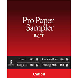 """Canon Pro Paper Sampler Pack (8.5 x 11"""")"""