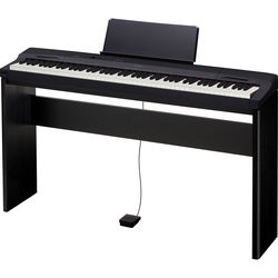 Casio PX-160 Privia 88-Key Digital Piano with Matching CS-67 Keyboard Stand (Black)