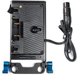 IndiPRO Tools Gold Mount Plate with Four-Pin Neutrik XLR Connector