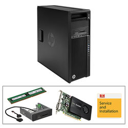 HP Z440 Series F1M47UT Turnkey Workstation with 16GB RAM, Quadro K2200, and 15-in-1 Media Card Reader