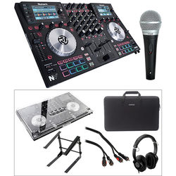 Numark NV DJ Controller Kit with Case, Cover, Headphones, Microphone, Stand, and Cables