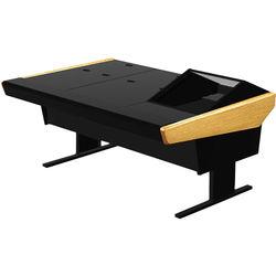"Argosy 70-70V1R Universal Workstation Desk with 45.5"" Flat Desk Insert and One VR1000 Front 10 RU (Oak)"