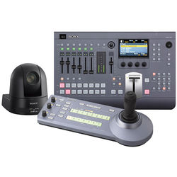 Sony MCS8M Bundle with Switcher, Controller, and PTZ Camera (Black)