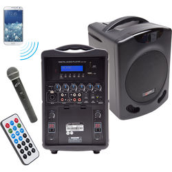 Califone PA419Q Portable Bluetooth PA with Handheld Wireless Microphone System