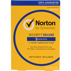 Symantec Norton Security Deluxe (5-Devices, 1-Year)