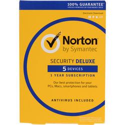 Symantec Norton Security Deluxe (5-Devices, 1-Year)