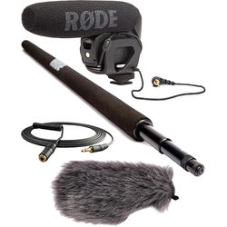 Rode VideoMic Pro with Micro Boompole and Custom Windbuster Kit