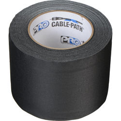 "Permacel/Shurtape Cable Path Tape - 4"" x 30 Yards (Black)"