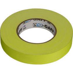 "Visual Departures Gaffer Tape (Fluorescent Yellow, 1"" x 50 Yards)"
