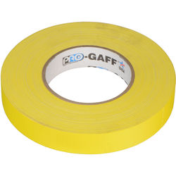 """Visual Departures Gaffer Tape - 1"""" x 55 Yards (Yellow)"""