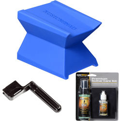 MUSICNOMAD Premium Guitar Care Essentials Kit with Cleaner/Polish, Oil, Neck Cradle, and String Winder