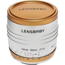 Lensbaby Velvet 56mm f/1.6 Limited Edition Lens for Nikon F (Silver with Copper Accents)