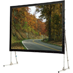 """GrandView LS-ZD165HWW3R Super Mobile 81 x 144"""" Folding Projection Screen"""