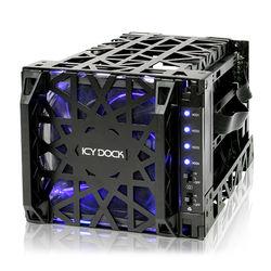 "Icy Dock Black Vortex 4-Bay 3.5"" SATA Hard Drive Cooler Cage"