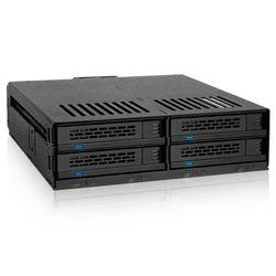 "Icy Dock ExpressCage 4-Bay 2.5"" SAS/SATA Drive Cage for 5.25"" Bay"