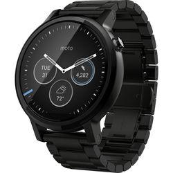 Motorola 2nd Gen Moto 360 46mm Men's Smartwatch (Black, Black Metal Band)