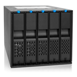 """Icy Dock FlexCage Tray-less 5-Bay Hot Swap Backplane Cage in 3 x 5.25"""" Bay for 3.5"""" SATA Hard Drive"""
