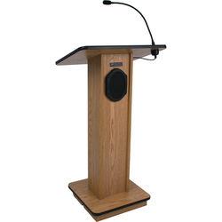 AmpliVox Sound Systems Elegant Wood Elite Lectern with Sound System (Walnut)