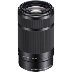 Sony E 55-210mm f/4.5-6.3 OSS E-Mount Lens (Black)