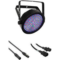 CHAUVET SlimPAR 64 RGBA LED Light with Power and DMX Daisy-Chain Kit