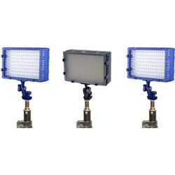 Bescor FP-430K Studio Combo Bi-Color and Daylight 3 Light Kit
