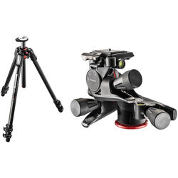 Manfrotto MT055CXPRO3 Carbon Fiber Tripod with XPRO Geared 3-Way Pan/Tilt Head Kit