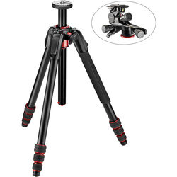Manfrotto 190go! Aluminum Tripod with XPRO Geared 3-Way Pan/Tilt Head Kit