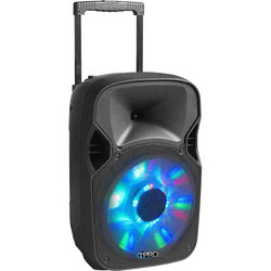Technical Pro PB1350LED Bluetooth Speaker with Battery Backup and LED Woofer