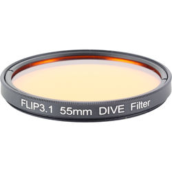 Flip Filters 55mm Threaded Underwater Color Correction Red Filter for GoPro 3/3+/4 (DIVE)