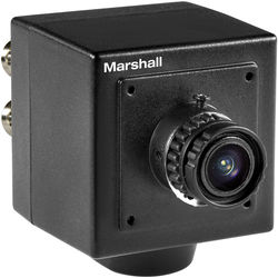 Marshall Electronics CV502-MB 2.5MP HD/3G-SDI Compact Broadcast Compatible Camera with Interchangeable 3.7mm Lens (M12 Lens Mount, Power Pigtail)